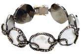 Silver, Baroque Pearl & 5.00 Total Ct. Brown Diamond Bracelet