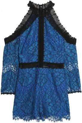 Alexis Cold-shoulder Corded Lace Playsuit