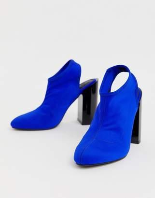 To&co. Asos Design ASOS DESIGN Toco slingback heeled shoes-Blue