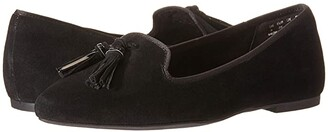 Hush Puppies Sadie Tassel Slip-On (Black Suede) Women's Shoes
