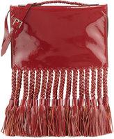 Valentino Braided Tassel Leather Clutch/Shoulder Bag, Scarlet