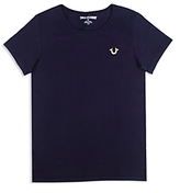 True Religion Boys' Logo Tee with Gold Details - Little Kid