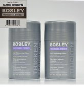 Bosley Hair Thickening Fibers Keratin Hair Fibers .42 oz (Dark Brown) 2 Pack