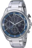 Pulsar Men's Quartz Stainless Steel Casual Watch, Color:Silver-Toned (Model: PZ6021)