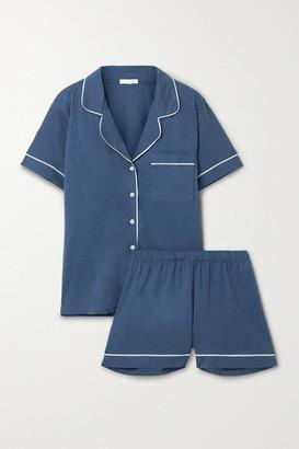 Skin Pima Cotton-jersey Pajama Set - Blue