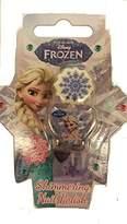 Disney Frozen Elsa Shimmering Lilac Nail Polish with Snowflake Ring by