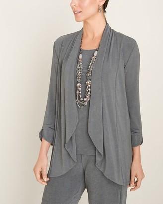 Travelers Classic Gray Pleat-Sleeve Jacket