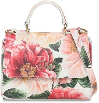 Dolce & Gabbana Printed Patent Leather Shoulder Bag