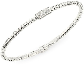 Bagutta Via 18K White Gold & Diamond Coiled Bangle Bracelet