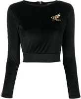 Roberto Cavalli cropped logo sweatshirt