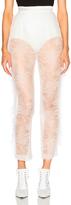 Rodarte Chantilly Lace Side Seam Ruffle Trousers