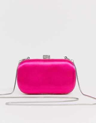 True Decadence fuschia satin clutch bag-Pink