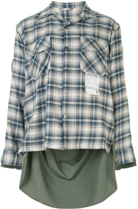Maison Mihara Yasuhiro Contrast-Panel Asymmetric Shirt