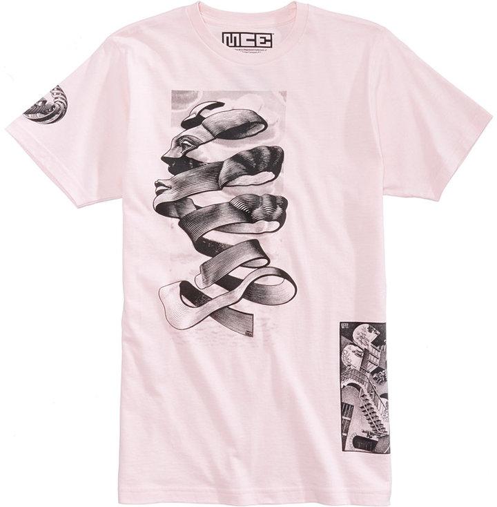 New World Men's Face Birds Fish Graphic-Print T-Shirt
