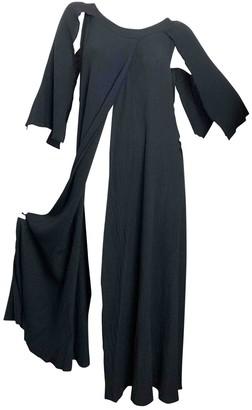 Eres Black Cotton Dresses