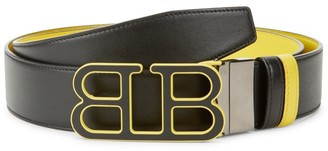 Bally Iconic Buckle Britt Reversible Leather Belt