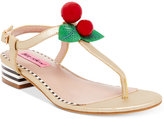 Betsey Johnson Cherry Thong Sandals
