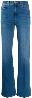 7 For All Mankind High Rise Flared Leg Jeans