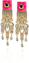 Disco Swarovski crystal clip-on earrings