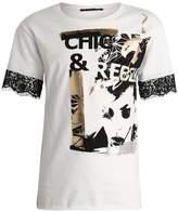 Sisley Print Tshirt offwhite