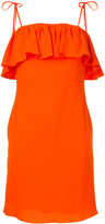 Sonia By Sonia Rykiel - ruffled fitted dress - women - Triacetate/polyester - XS