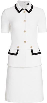 St. John Lux Boucle Knit Short-Sleeve Dress