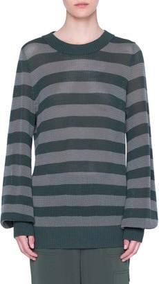 Akris Punto Colorblock Wool Turtleneck Sweater