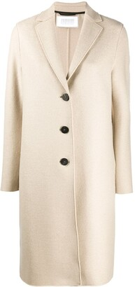 Harris Wharf London Straight-Fit Button Up Coat