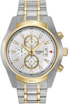 Citizen White & Two-Tone Chronograph Watch - Men