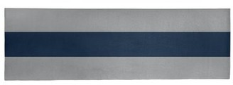 """East Urban Home Striped Gray/Blue Area Rug Rug Size: Runner 2'6"""" x 8'"""