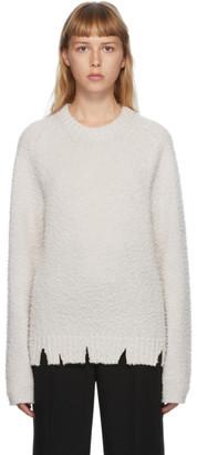 Maison Margiela Off-White Pilled Gauge Sweater