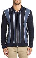 Hugo Boss Boss Ainton Stripe Full Zip Cardigan, Open Blue