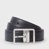 Paul Smith Men's Navy Saffiano Leather Cut-To-Fit Reversible Belt