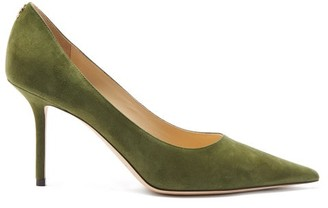 Jimmy Choo Love 85 Suede Pumps - Khaki