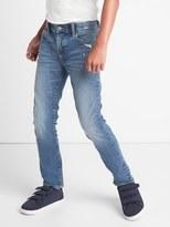 Gap High stretch THERMOLITE® frayed slim jeans