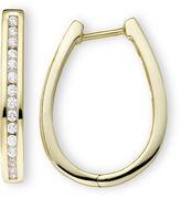 JCPenney FINE JEWELRY 1/2 CT. T.W. Diamond Hoop Earrings