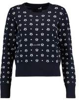 Love Moschino Stretch Intarsia-Knit Sweater