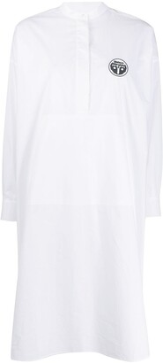 MM6 MAISON MARGIELA logo patch shirt-dress