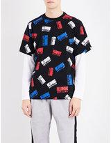 Billionaire Boys Club All-over logo print cotton-jersey T-shirt