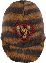 Scotch & Soda Striped acrylic, mohair and wool knit cap