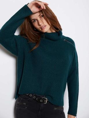 Mint Velvet Zip Detail Chunky Knit