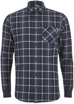 Carhartt Ls Sampras Shirt Ribknit Cuff - Labor Blue Heather