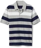 Short sleeve slub polo