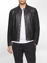 Calvin Klein Platinum Lightweight Leather Jacket