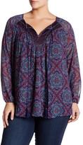 Daniel Rainn Mixed Print Blouse (Plus Size)