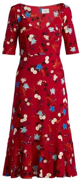 Erdem Glenys Hideko Print Jersey Dress - Womens - Pink Print