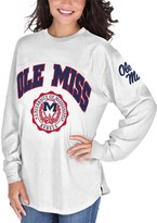 Unbranded Women's White Ole Miss Rebels Edith Long Sleeve T-Shirt