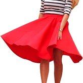 TONSEE Women's High Waist Pleated Long Skirt (M, )