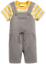 First Impressions Baby Boys' 2-Pc. Striped T-Shirt & Shortall Set, Only at Macy's