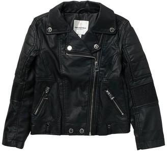 Urban Republic Faux Leather Moto Jacket (Big Girls)